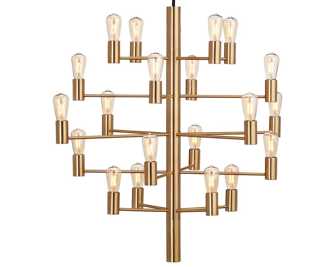Manola 20 lustre de Herstal avec un design élégant avec un cadre en métal, vingt bras et inclus sources de lumière LED et fabriqué en Chine fournisseur d'éclairage à bon prix