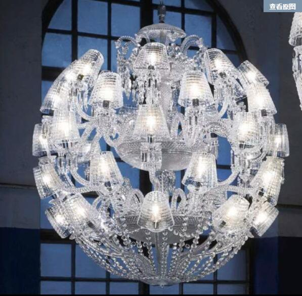 BACCARAT crystal chandelier round style light and clear lamp made in china factory