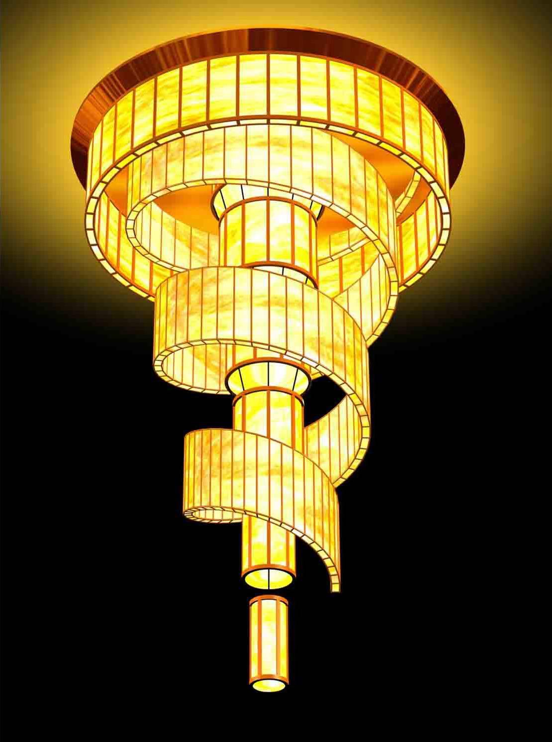 TPY-L001D барабан люстра свет из китая