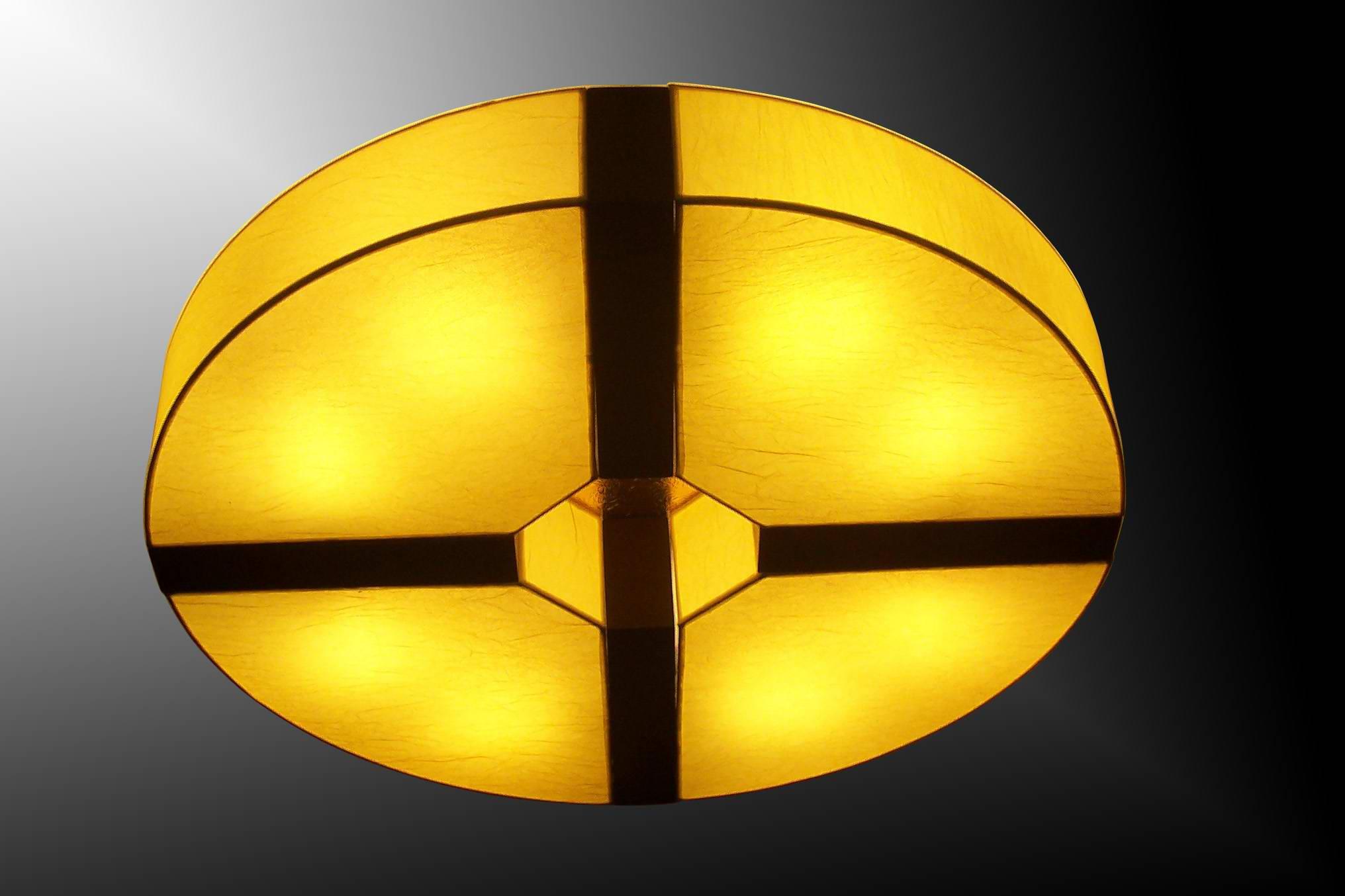 TPY-L057 Китай деньги дизайн стиль пергамент барабан люстра свет сделан в китае