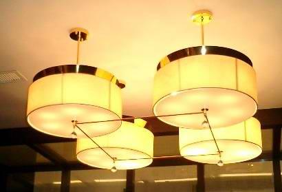 ТПИ-П0031 4 огни фарфор стиль означает ткань барабан люстра свет сделанный в китае
