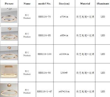 lumières de style manooi fabriquées en Chine